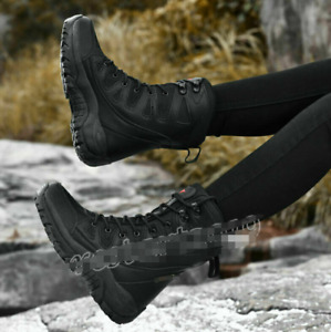 Women's Military Tactical Desert Army Boots Combat Knight Ankle Boots Work Shoes