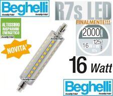 Lampada LED BEGHELLI 56140 R7S lunga 117 118 mm 16W 2700K 2000 lumen LUCE CALDA