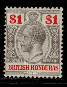 BRITISH HONDURAS GV SG108, $1 black & carmine, M MINT. Cat £38.