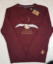 Harry Potter Hogwarts Letter Hedwig Owl Burgundy Ladies Jumper Top Primark NEW