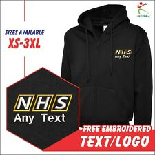 Personalised Custom Embroidered NHS WORKWEAR Casual Zip HOODIE STAFF XS-3XL