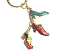 & Albert Museum Collection - GrnRdPlat Shoe Key Ring Inspired by The Victoria