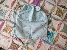 Vintage from 2000's Hello Kitty Blue Angel Backpack / Sack by Sanrio, NEW w/ TAG