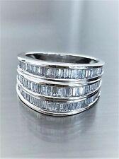 14K White Gold (6.2 Grams) Baguette Cut 1.2 Carats Diamond Ring