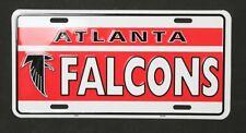 Atlanta Falcons Old School Metal License Plate