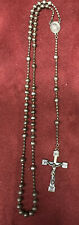 WWII / WWI Soldier's Pull Chain Rosary Christ w/ Cross Blessed Virgin Mary