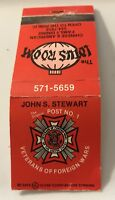Matchbook Cover The Lotus Room John S. Stewart Post No. 1 VFW