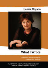 New DVD** WHAT I WROTE - Hannie Rayson
