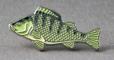 PERCH - LAPEL PIN BADGE - FISH FISHING LAKES RIVERS ANGLING ANGLER TROUT 124D