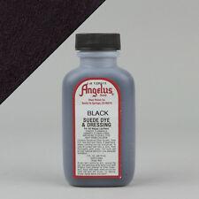 Angelus BLACK SUEDE DYE 3oz Bottle Industry Strength Dye Vibrant Colors