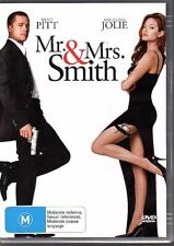 MR. & MRS. SMITH - DVD R4 (2006) Brad Pitt Angelina Jolie - VG FREE POST