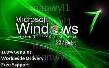 Scarto / BAREBONE PC CON WINDOWS 7 HOME PREMIUM 32 / 64 bit COA chiave di licenza