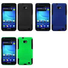 Samsung Galaxy S2 i9100 Case Hybrid Silicone Hard Mesh 2-Piece Cover