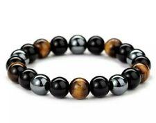 Genuine Gemstone Semi Precious Stone AAA Natural Crystal Bracelet for Men Ladies