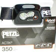 Petzl Actik - Aktive Stirnlampe in BLACK - 350 Lumen, Kopflampe, Headlight