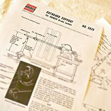 Ammco 5925 Outboard Support Operating Amp Parts Manual Data Sheet For Brake Lathes
