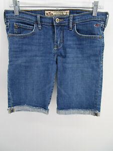 Hollister Juniors sz 3 Blue Cotton Stretch Low Rise Mini Bermuda Denim Shorts
