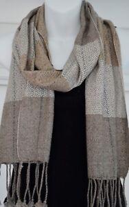 Cashmere Scarf Shawl Pashmina Soft Wool Winter Warm Wrap 165x30cm Nepal EU3002