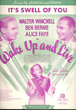 "Wake Up & Live Sheet Music ""It's Swell Of You"" Alice Faye"