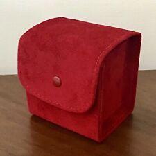 Stunning Cartier Red Velvet Travel or Gift Box. Bracelet, Watch or Jewellery