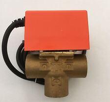 3 Puerto Solar 1 BSP Hembra Actuador Válvula Zona Motorizada sistemas Solar Térmica