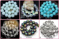 12-14mm Czech Glass Smooth Round Beads - choose color  (20pc)