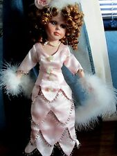"""Vintage Victorian Style Doll 16"""" Pink Dress Composition Beautiful Condition"""