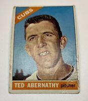 1966 Topps # 2 Ted Abernathy Baseball Card Chicago Cubs
