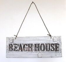Wooden Coastal Beach House Design Wall Hanging or Fixed Distressed Seaside Sign