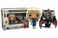 Daenerys & Drogon metallic Game of Thrones Funko POP Vinyl New in Mint Box + P/P