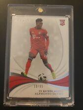 2018-19 Immaculate Soccer Alphonso Davies Rookie Card 10/65 Bayern Munich