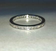 Anello Veretta a giro in oro bianco 18 kt e diamanti naturali  0,50 ct