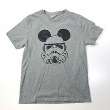 J Crew Gray Mickey Mouse Star Wars Stormtrooper T Shirt Size S Small #476