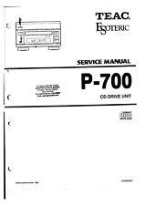 Service Manual-Anleitung für Teac P-700