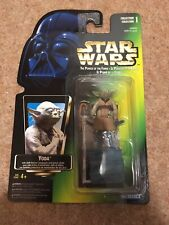 Star Wars POTF Yoda Kenner Green Card Figure 1997 Kenner