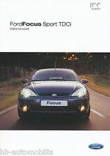 Ford Focus Sport TDCi Prospekt 2003 8/03 brochure Autoprospekt Broschüre Katalog