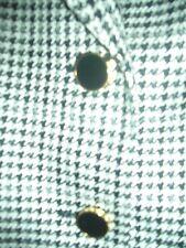 LANDHAUS LUXUS Escada Couture Blazer SEIDE s/w PEPITA 42/44 NP1180,- gold TOP