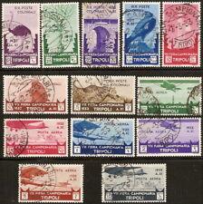 1933 Colonie Libia 7 Fiera serie cpl n. 118/124+A Usati