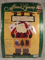 Bucilla Jolly Santa Angel Alma Lynne Felt Applique Kit Embroidery Christmas