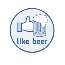 """Like Thumbs Beer Funny College Humor Vinyl Car Sticker Decal 4"""" x 4"""""""