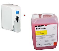 Seifenspender weiß 500 ml + Flüssigseife, Handseife 5 Liter
