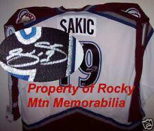 Colorado Avs Hall of Fame Member JOE SAKIC Signed Semi-Pro CCM Jersey