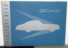 1955 Mercedes Benz Type 300 SL Prestige Sales Brochure W/Folder Gull Wing Race