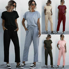2020 Women Summer Tracksuits Set Lounge Wear Ladies Top Suit Pants Loungewear