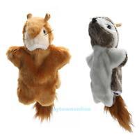 Cute Squirrel Hand Glove Puppet Baby Kid Child Development Soft Doll Plush Toy
