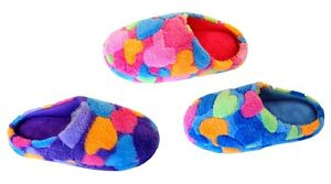New Women Slipper Shoe Heart Print Cotton Fur Nice Warm Comfortable-309F