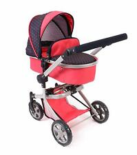 Bayer Chic 2000Dolls Pram Buggy Pushchair Jogger Mika Combi Pink New