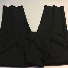 Ermenegildo Zegna Charcoal Gray Flat Front cuffs Wool Trousers Size 36 x 26