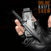 """6"""" MILITARY TACTICAL COMBAT NECK KNIFE w/ SHEATH Survival HUNTING Fixed Blade"""