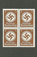 MNH Stamp Block / PF03 1942 Issue / Large Nazi Swastika / MNH Third Reich block